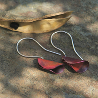 Copper Pod Dangle Earrings