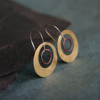 Brass and Copper Satellite Circles Earrings