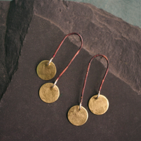 Statement Copper and Brass Dangle Earrings