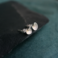 Silver Rosebud Stud Earrings