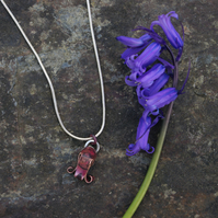 Copper Bluebell Pendant Necklace