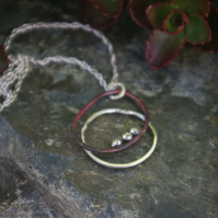Organic Silver and Copper  Seed Necklace