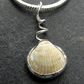 Bian Cockle Pendant. Sterling silver. Shell.