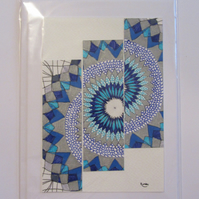 Aztec Blue Blank Card