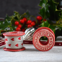 Merry Christmas Ceramic Bobbin