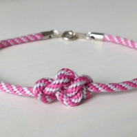 Eternity Knot Two Tone Kumihimo Bracelet