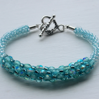 Cute Turquoise Beaded Bracelet   Unique gift for her
