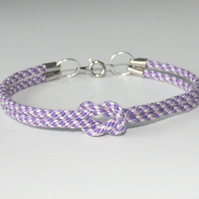 Simple Knotted Kumihimo Bracelet in Purple Tones