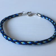 "Kumihimo ""Skinny"" Cord in Diamond Ombre Pattern"