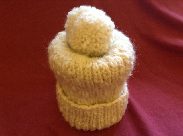 Simple Bobble Hat Knitting Pattern : Simple Bobble Hat Knitting Pattern - Folksy
