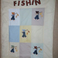 GONE FISHIN' LAP QUILT - HOME CRAFTED