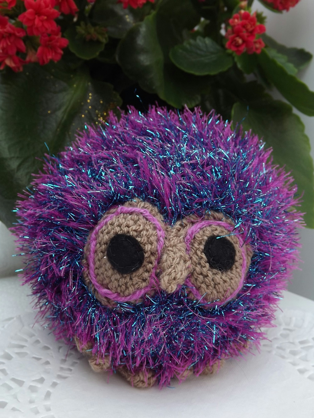 Sparkler the Owl. Pink Purple and Turquoise soft toy, graduation gift.