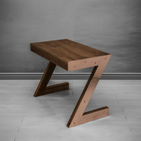 Wood table - designer table in Z shape.