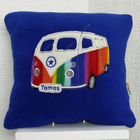 Royal Blue Camper Van Cushion
