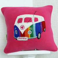 Cerise Camper Van Cushion