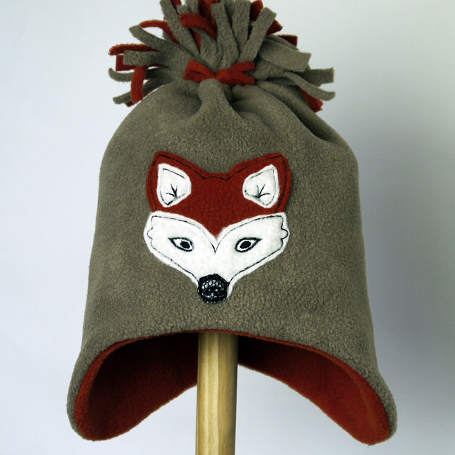 Fox Fleece Tassel Hat