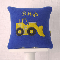 Personalised Digger Cushion