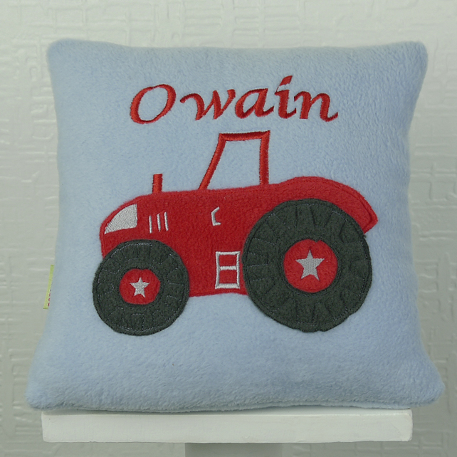 Red Tractor Personalised Cushion