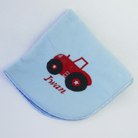 Red Tractor Personalised Blanket