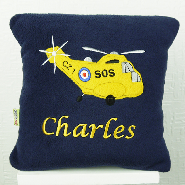 Personalised Rescue Helicopter Cushion