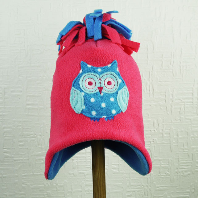 Owl Fleece Tassel Hat