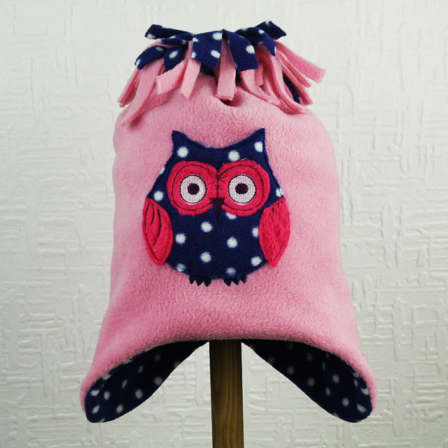 Candy Pink Owl Hat