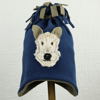 Fox Terrier Fleece Tassel Hat