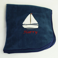Sailboat Personalised Blanket