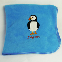 Personalised Puffin Blanket