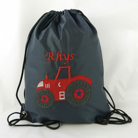 Personalised Tractor Gym Bag.