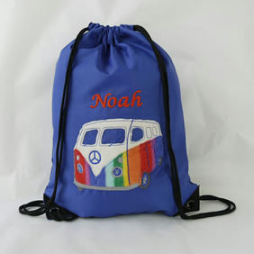 Personalised Camper van Gym Bag.