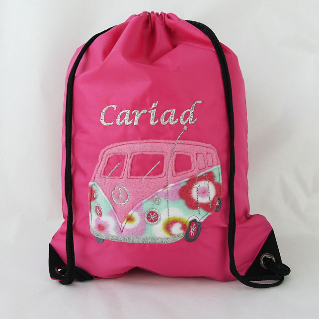 Girls Personalised Camper van Kit bag