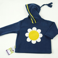 Applique Daisy Fleece Hoodie
