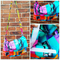 Bright vibrant petrol pump satchel
