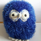 Blue Knitted Owl