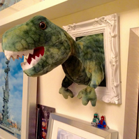 T Rex dinosaur faux taxidermy wall art