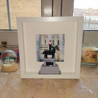 Glasgow's Duke of Wellington statue in Lego (White box frame)