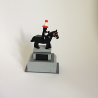Glasgow's famous Duke of Wellington statue in Lego.
