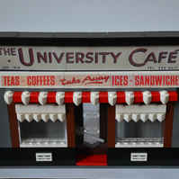 The University Cafe, Glasgow in Lego