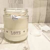 Happy Birthday (love) Scented Soy Candle