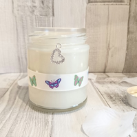 Sparkle Heart Butterfly Scented Candle