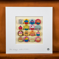 """Cupcakes"" Mounted Badge Collection."