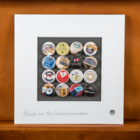 """Welsh Cheese"" Mounted Badge Collection."