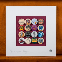 Harry Potter Badge Collection (Unframed)