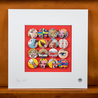 Pop Art Badge Collection (Unframed)