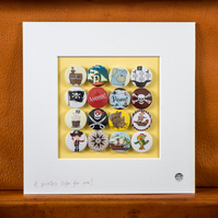Pirate Badge Collection for kids (Unframed)