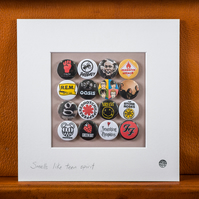 90s bands Badge Collection (Unframed)