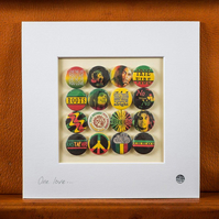 Bob Marley Reggae Badge Collection (Unframed)