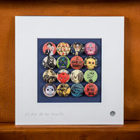 Day of the Dead Badge Collection (Unframed)