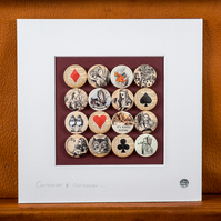 Alice in Wonderland Badge Collection (Unframed)